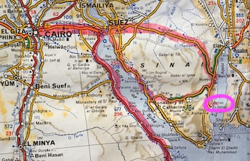 Michelin Map - Dahab Egypt